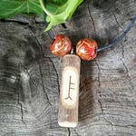 Ogham Birth Pendants – Rowan - Wood – Ogham – Pendant – Necklace – Druid -  Pagan – Celtic – Witchcraft – Gift for Men – Gift for Women