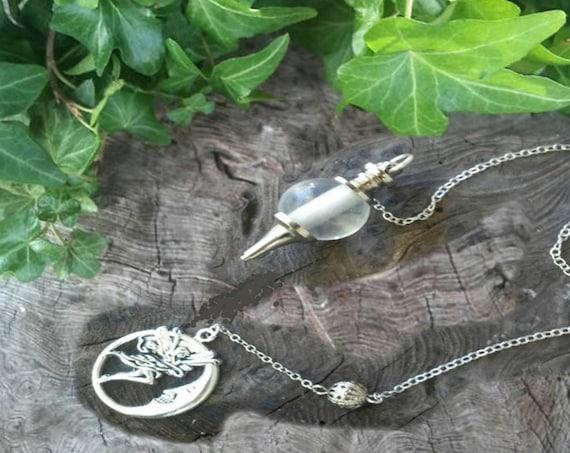 Clear Quartz Pendulum  - Dowsing Pendulum - Pendulum -  Pendulums -Divination - Witchcraft - Witchcraft Supply - Occult
