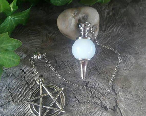 Opalite  Pendulum  - Dowsing Pendulum - Pendulum -  Pendulums -Divination - Witchcraft - Witchcraft Supply - Occult
