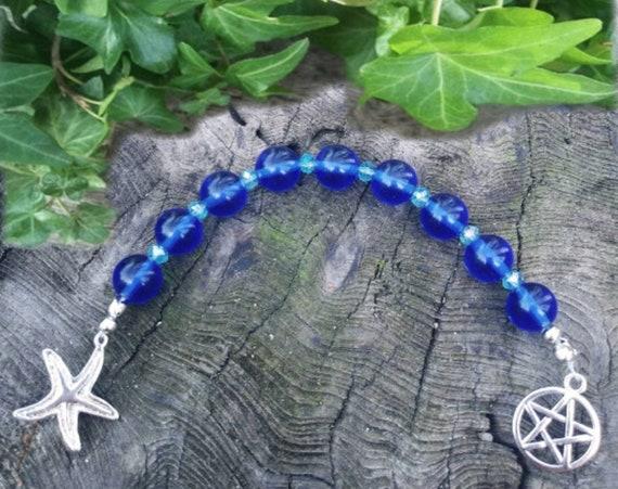 Sea Witch Praying Beads, Pagan Spiritual Gift, Prayer Beads