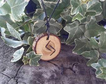 Jera rune necklace, cedar rune pendant