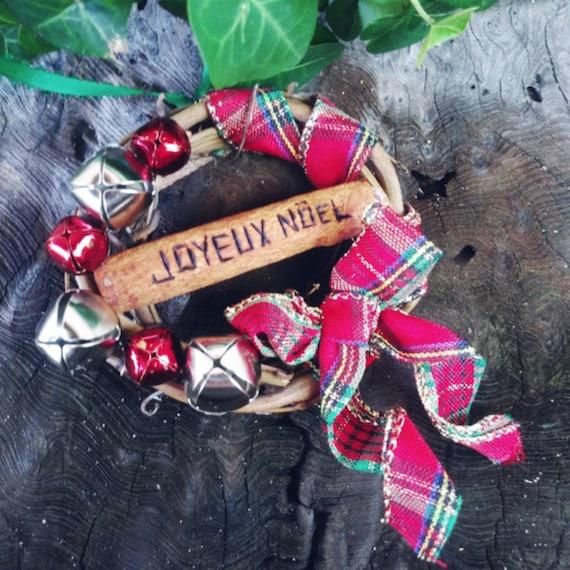 Joyeux Noel Grapevine Wreath