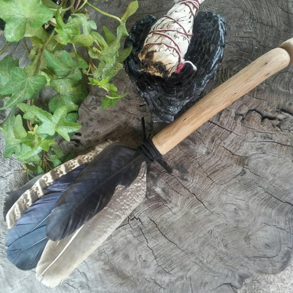 Smudge Fan - Crow Feathers - Pheasant Feathers - Feathers - Feather Smudge