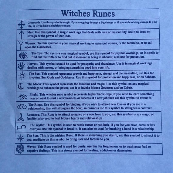 Maple Witches Runes Witches Runes Wood Runes Rune Set