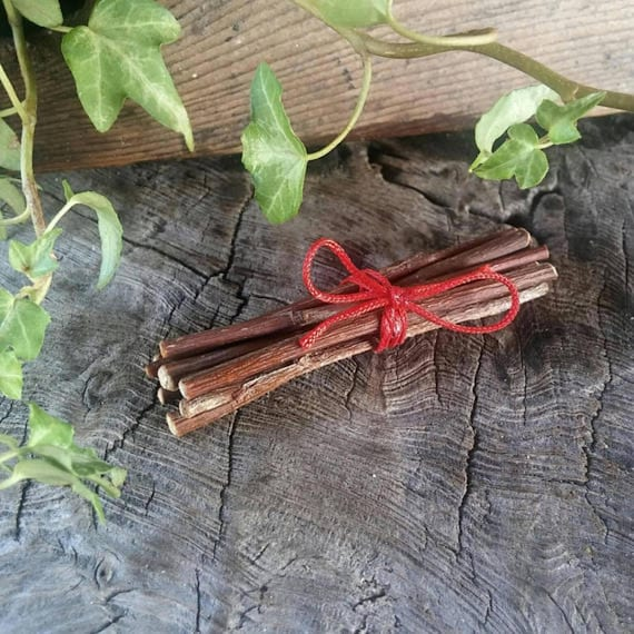 Grandfather's Rowan Protection Bundle, Rowan Twigs, Rowan Protection, Protection Amulet, Protection Charm, Witchcraft, Rowan Tree