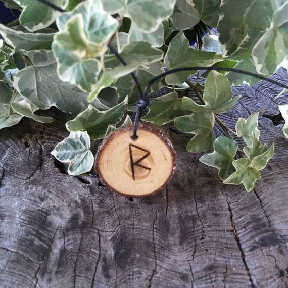 Rune Necklace - Rune Pendant -  Raido - Talisman Necklace - Necklace For Men - Rune Jewelry