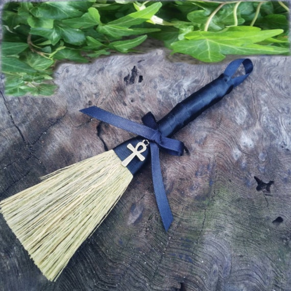 Witches Altar Broom, Altar Besom, Ankh Charm