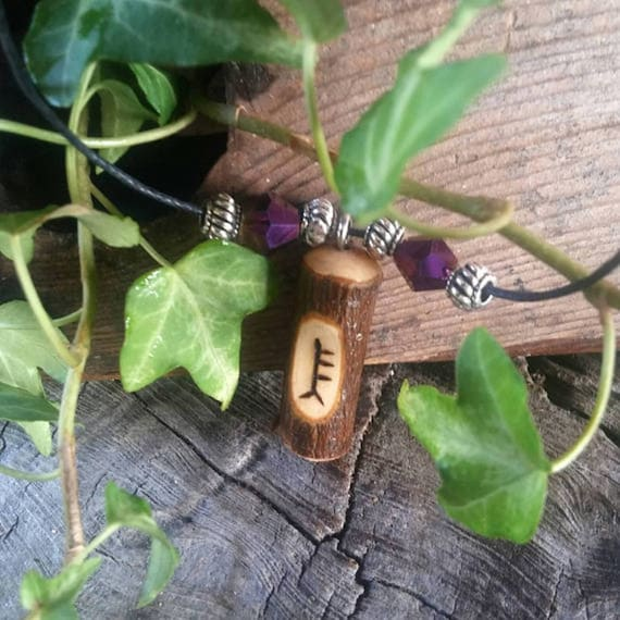 Ogham Birth Pendants – Alder - Wood – Ogham – Pendant – Necklace – Druid -  Pagan – Celtic – Witchcraft – Gift for Men – Gift for Women