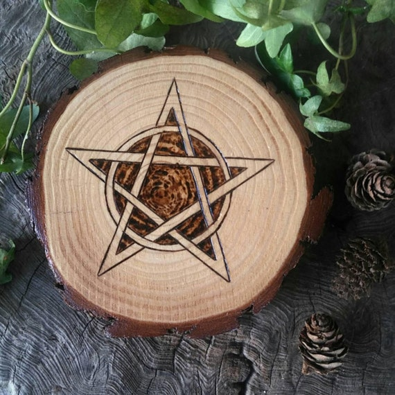 Rustic Altar Paten, Altar Tile, Altar Pentacle, Witchcraft, Wiccan Altar Tile, Wiccan Altar, Pagan Altar Décor, Traditional Craft