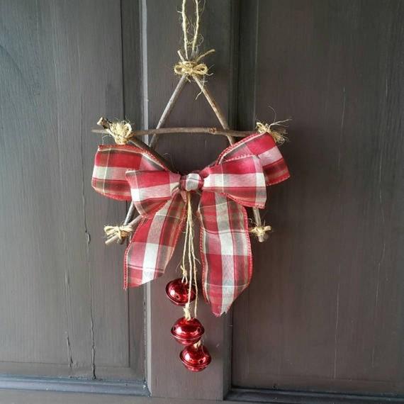 Bow Bells Xmas Door Wreath