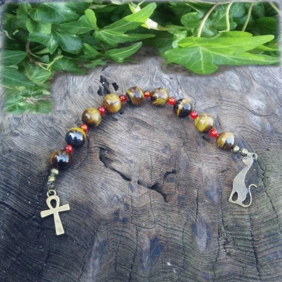 Bastet Prayer Beads, Cat Beads