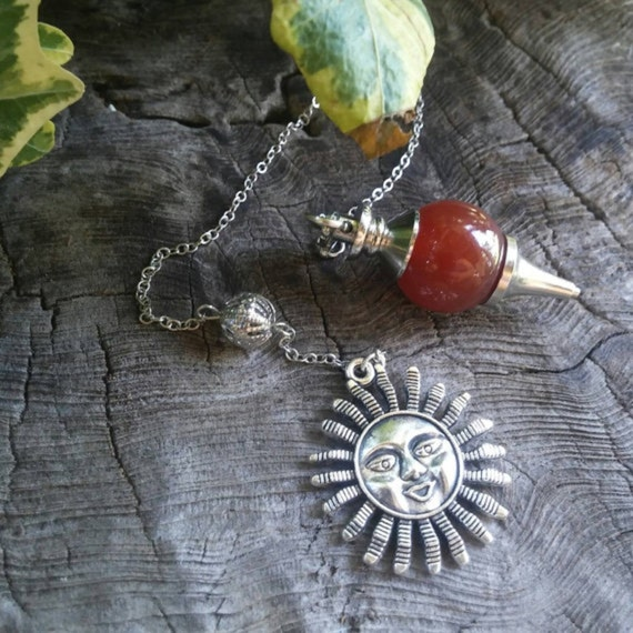 Red Carnelian Pendulum - Dowsing Pendulum - Pendulums - Chakra Pendulum - Crystal Pendulum - Witchcraft - Witchcraft Supply - Magic - Occult