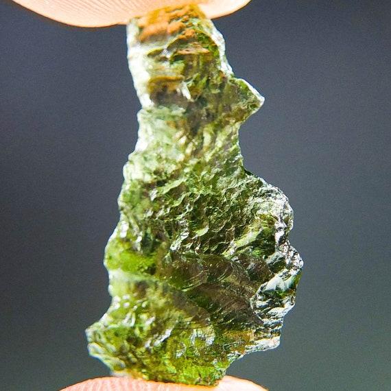 Natural Green Moldavite, Genuine Moldavite, Grade A+ from Chlum