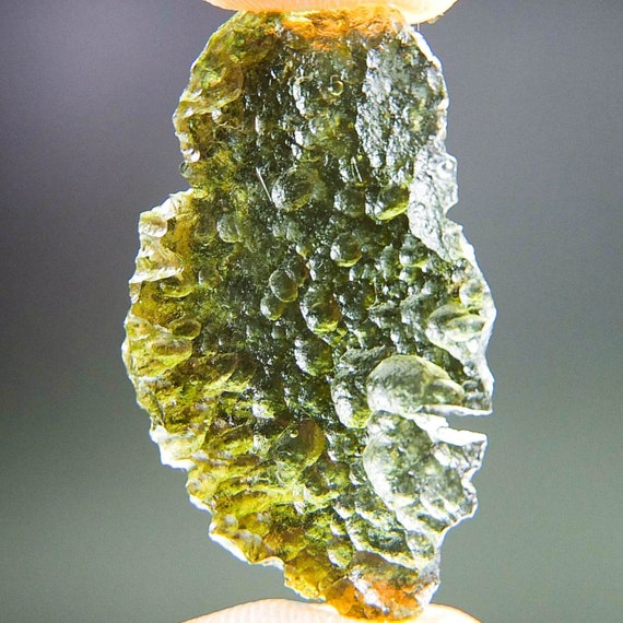 Natural Green Moldavite, Genuine Moldavite