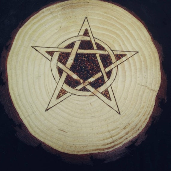Rustic Altar Tile, Altar Pentagram