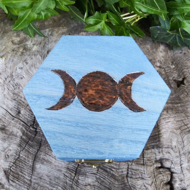 Wooden Witches Runes with Wooden Box image 0