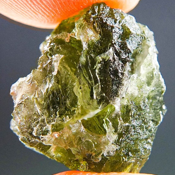 Natural Green Moldavite, Genuine Moldavite, A+ 12.5ct