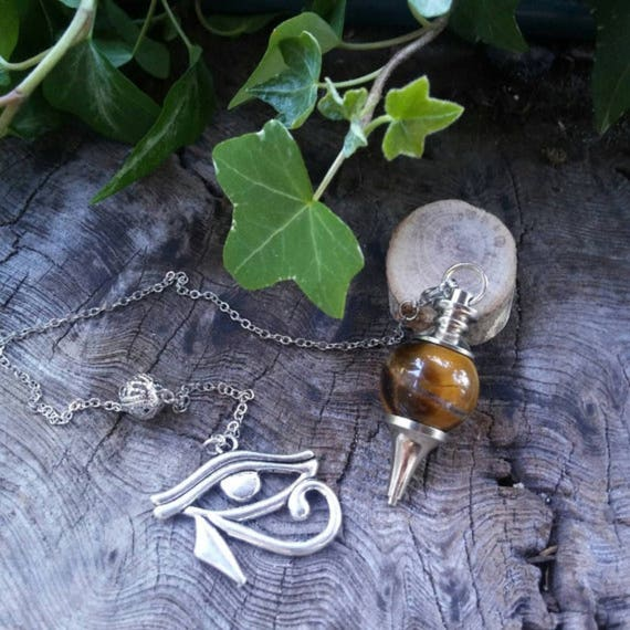 Tigers Eye Pendulum - Dowsing Pendulum - Pendulum - Pendulums - Divination - Witchcraft - Witchcraft Supply - Occult