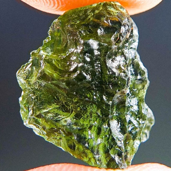 Natural Green Moldavite, Genuine Moldavite, Czech Republic
