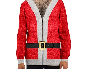 hairy santa christmas sweater ugly christmas sweater