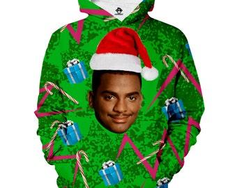 christmas carlton hoodie ugly christmas sweater tacky christmas sweater