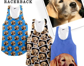 Custom Pet Racerback Tank Tank Top |  Custom Tank Top For Women | Cat Tank Top | Dog Tank Top