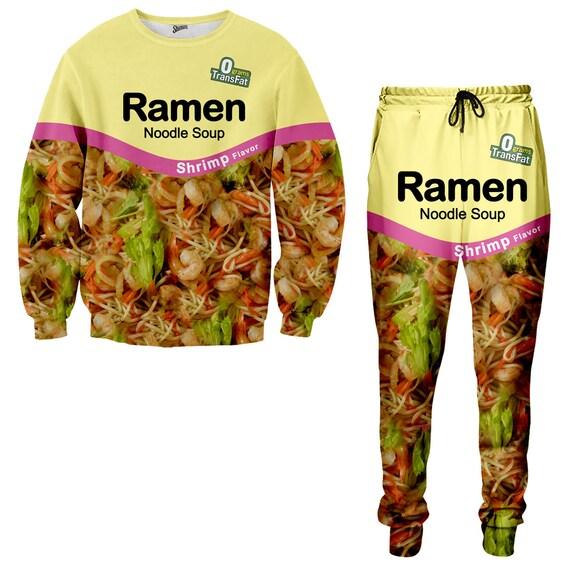 Shrimp Ramen Noodle Tracksuit Ramen Noodle Sweatshirt Ramen Etsy