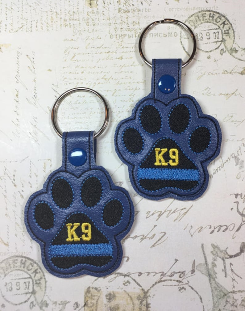Police K9 Key Chain, K9 Officer Keyring, Custom Embroidery, Gift for Him or  Her, Accessories, Personalized Keychain, Valentine