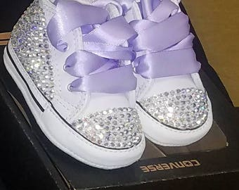 872633b7206c Bling Converse crib shoes