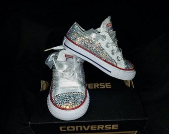 48ce09869e59 Bling converse with bling heart-Toddler birthday bling custom converse  embellished toddler shoe