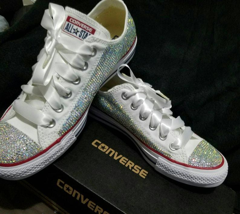 d84e4258cc1e Bling converse custom bling shoes embellished converse wedding