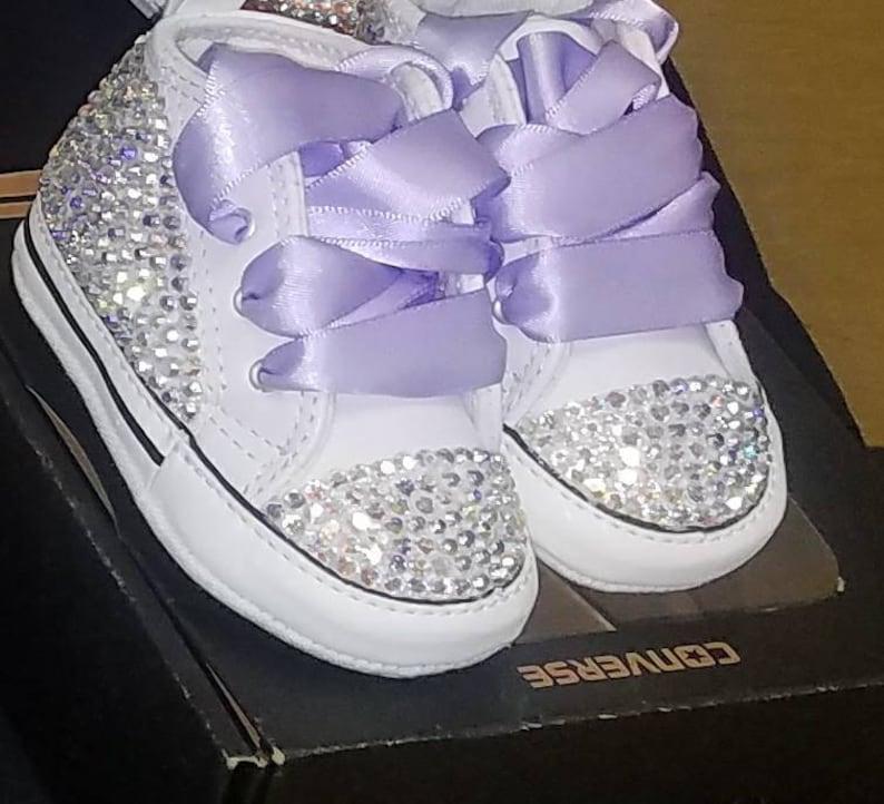 a68c08ba99cf39 Bling Converse crib shoes Custom conversebaby Girl Bling