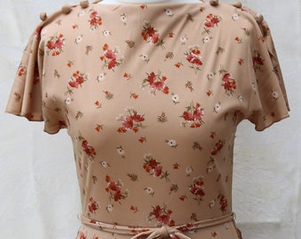 Floral Vintage Tea Dress - Size 10