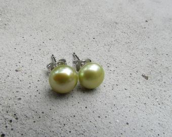 Collar adornment Green Pearl Pearl Earrings