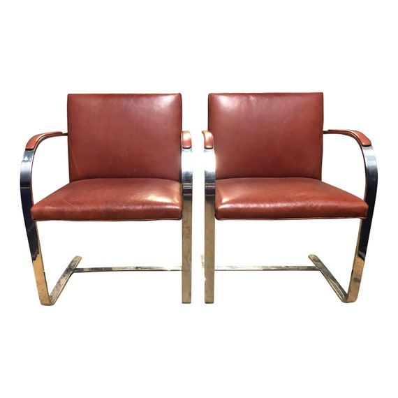 Pair Of Authentic Knoll BRNO Chairs By Mies Van Der Rohe   Etsy