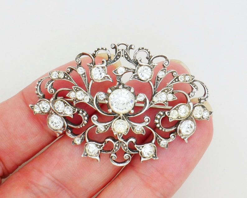 Knowledgeable 2 Broches Anciennes Pierres Strass Pins & Brooches