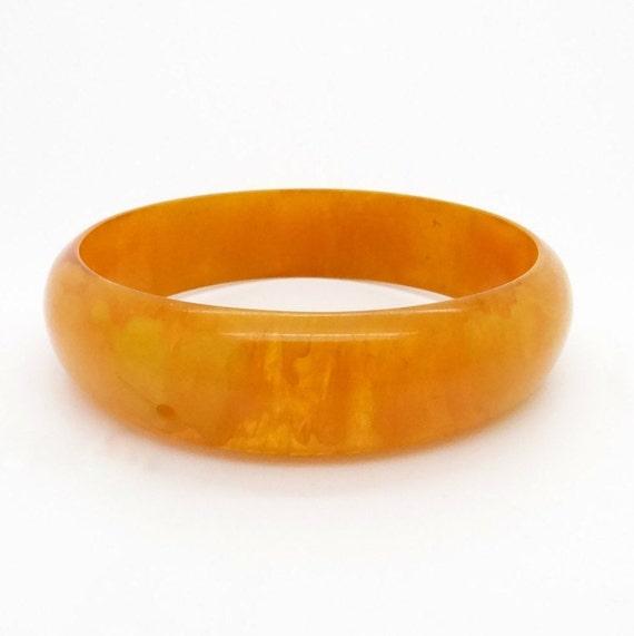 Genuine Bakelite Bangle Bracelet - Amber Bakelite