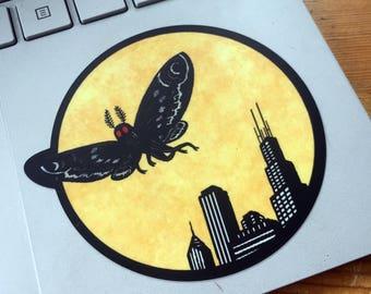 Chicago Mothman Sticker
