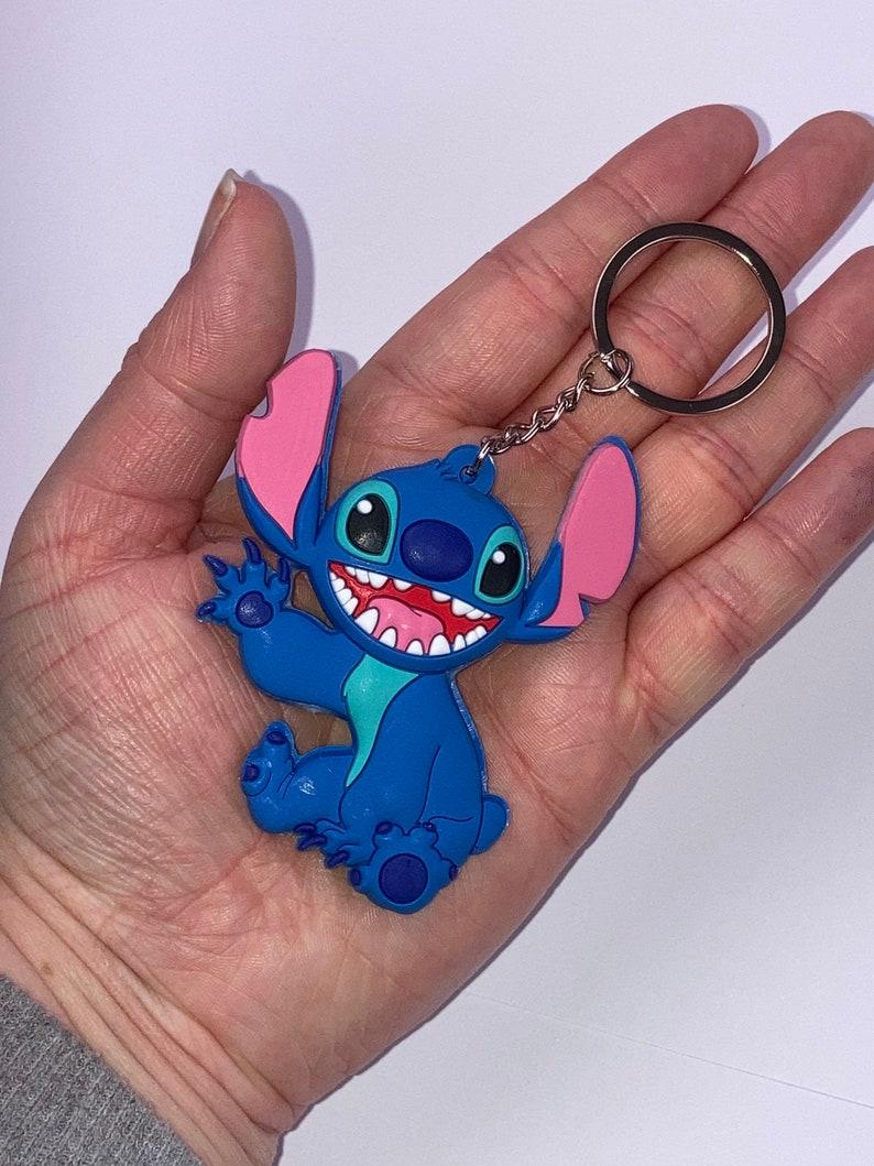 Happy Stitch waving keyring