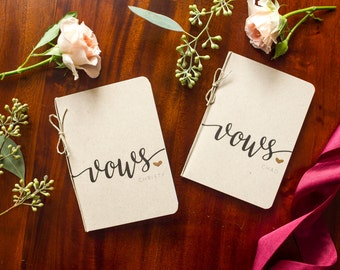 Personalized Wedding Vow Books - set of 2