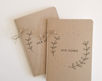 His / Her Wedding Vow Books - set of 2