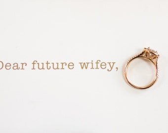 Dear future husband / future wifey | gold foil | Wedding day stationery
