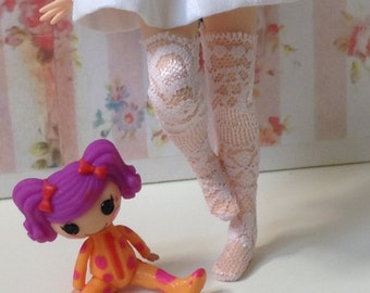 Thigh High Lace Stockings / light pink / Blythe