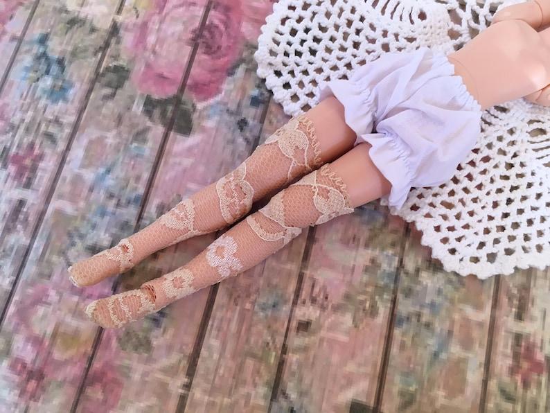1 Pr BARBIE DOLL SOCKS Thy High Fishnet  Pink Fishnet Tights//nylons Stockings