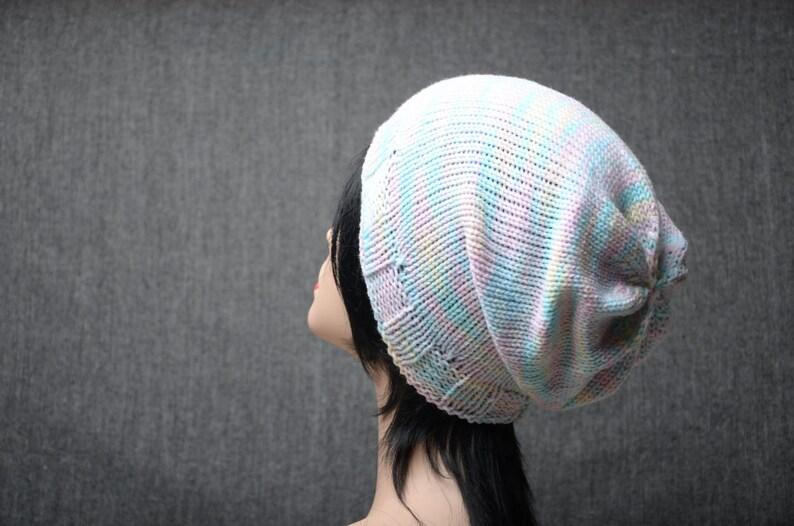 valentine gift knit slouchy hat pastel beanie