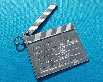 Miniature film flap-handmade-solid silver925-pendant-OOAK
