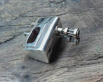 Miniature Large Vintage mixer ,unique handmade sterling silver pendant,OOAK