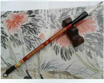 Free Shipping 0.95x4.4x28.4cm Rabbit Goat Hair Combined Brush Tu Hao Zi Hao - Bamboo  Handle - Oriental Calligraphy Painting - 0033M