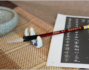 Free Shipping 5x1.2cm Weasel Goat Hair Combined Brush / JHYF - Oriental Calligraphy Painting - 0027L