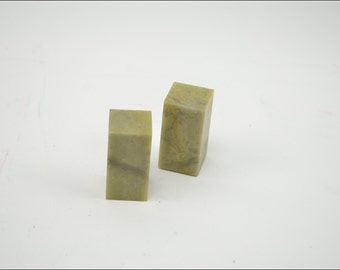 Free Shipping Chinese Calligraphy Material  2.5x2.5x5cm Square Qingtian Seal Stone Soapstone / - 5 Pieces - 0001
